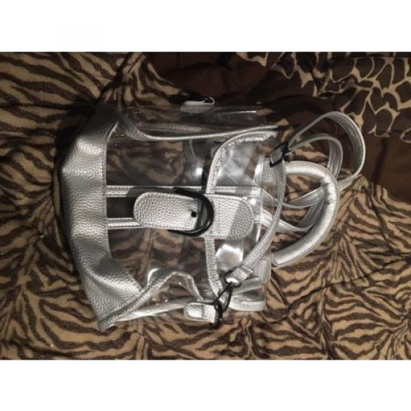 Donalworld Womens Mini Clear Bag Transparent Beach Silver Handbag #4 image