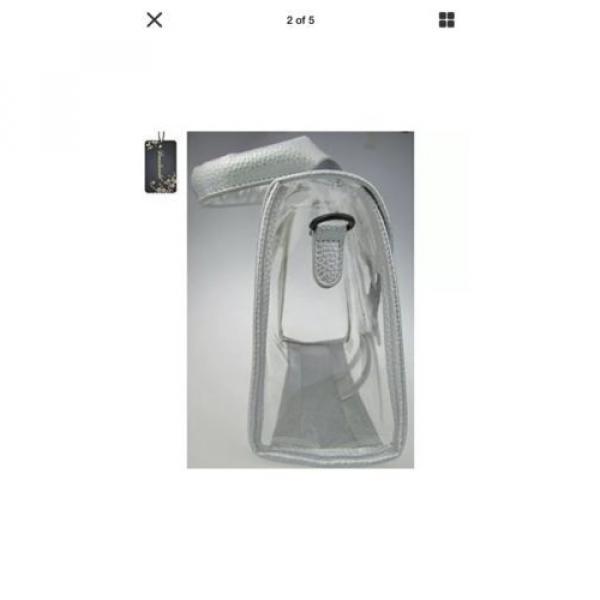 Donalworld Womens Mini Clear Bag Transparent Beach Silver Handbag #5 image