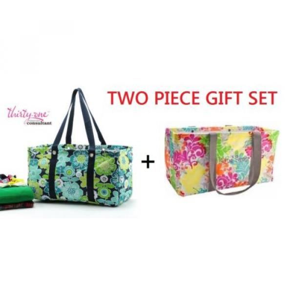 GIFT SET Thirty one Large utility beach laundry tote bag 31 Best buds ISLAND new #1 image