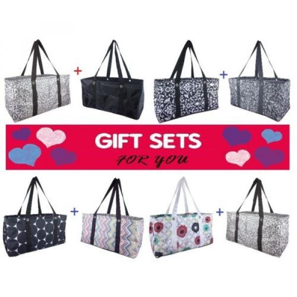 Gift Set Thirty one LARGE UTILITY TOTE Bag basket beach laundry 31 Bubble Bloom #1 image