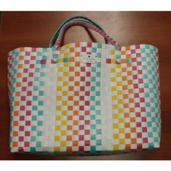 KATE SPADE NEW YORK Extra large Tote Shopper Beach Shoulder Bag Multicolor NEW #3 image