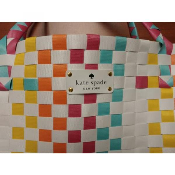 KATE SPADE NEW YORK Extra large Tote Shopper Beach Shoulder Bag Multicolor NEW #4 image