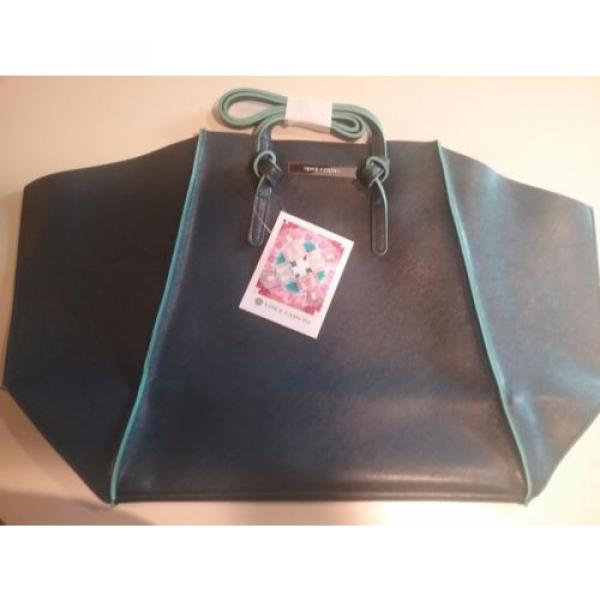 Vince Camuto Navy Blue Ladies Tote Bag Shopping Beach Travel #1 image