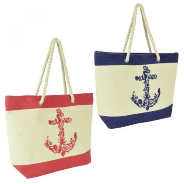 Anchor Design Shoulder / Beach / Shopping Bag with Rope Handle #1 image