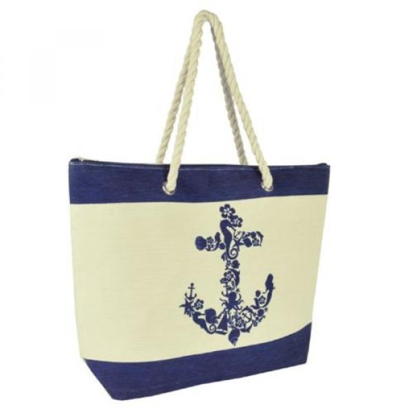Anchor Design Shoulder / Beach / Shopping Bag with Rope Handle #3 image