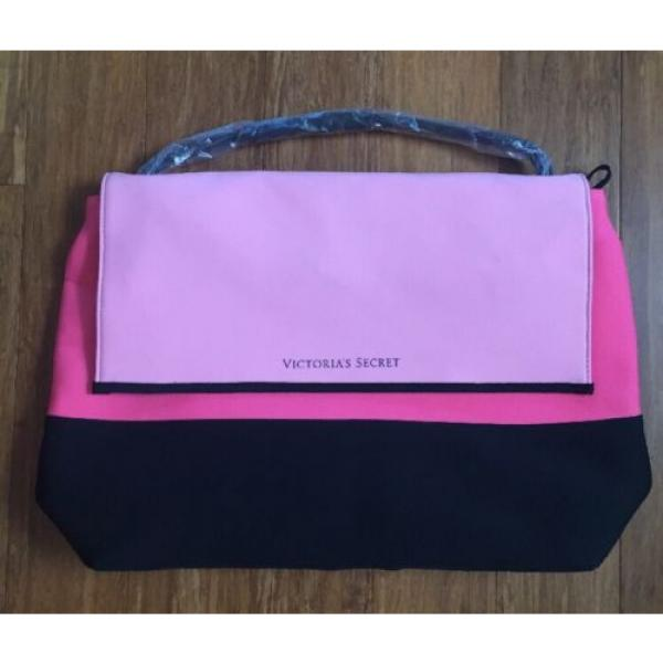 Victoria Secret VS Pink Black Beach Cooler Neoprene Insulated Tote Pool Bag NEW #1 image