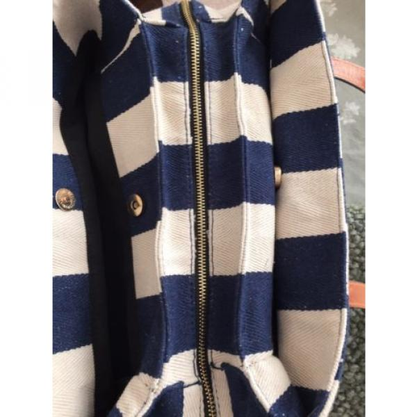 Gabriella Rocha Felicity Striped Navy Beach Bag NWOT #3 image