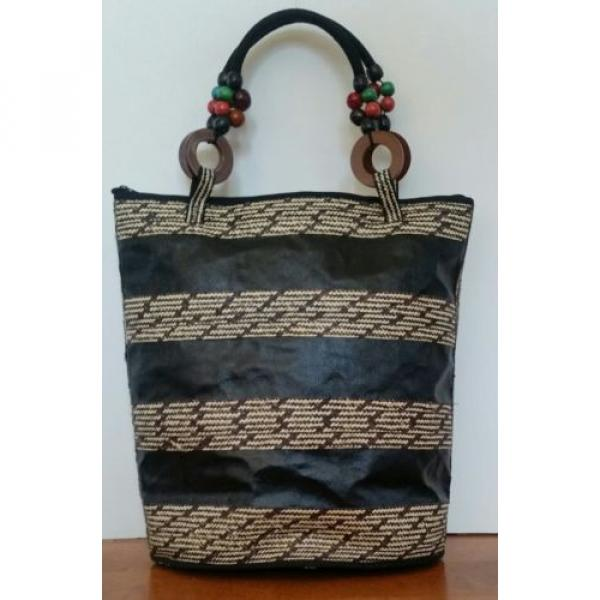Handmade Tote/Women/Woven Straw/ Shoulder/Shopping/Summer Beach Bags/ Gift #2 image