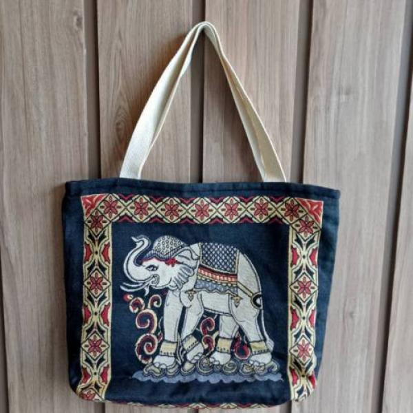 Hobo Tote Shoulder Fitness Beach Swim Gym Shopping Women Bag New Thai Elephan #4 image