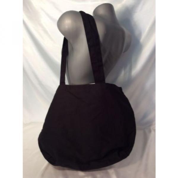 VICTORIA'S SECRET PINK BEACH BAG TRAVEL TOTE SHOPPER BLACK WHITE NWT #3 image