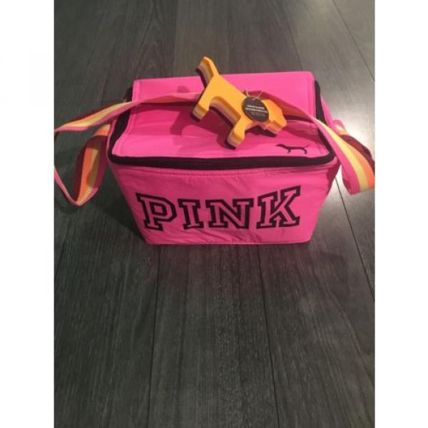Victorias Secret Beach Cooler Bag With Mini Dog Keychain 2016 Pink #2 image