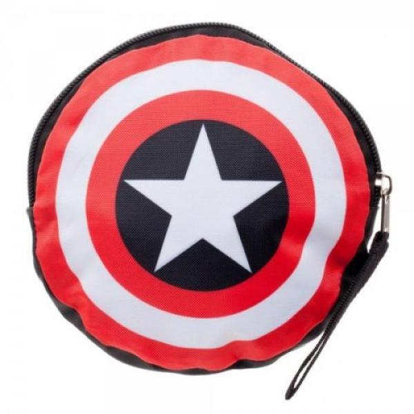 Marvel Comic Print Packable Handbag Tote Beach Bag Reusable Grocery Bag #4 image