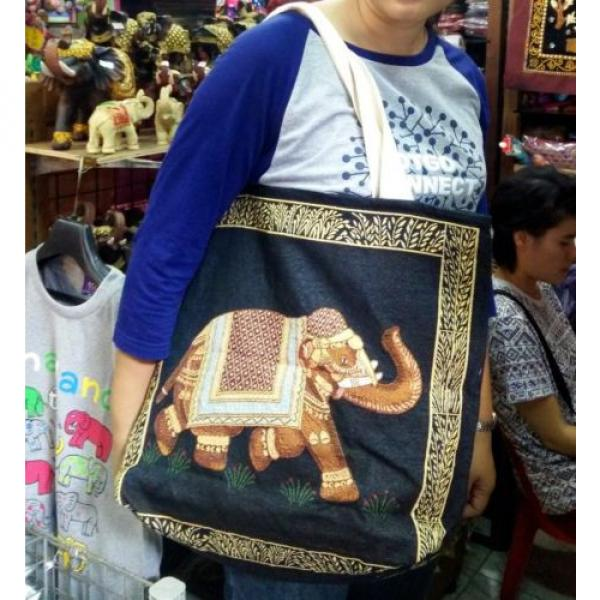 Hobo Tote Shoulder Gym Fitness Beach Swim Shopping Womens Bag Thai Elephant New #1 image