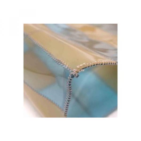 Auth CHANEL Patchwork Vinyl Beach Bag Shoulder Bag Beige/Blue 065019 #3 image