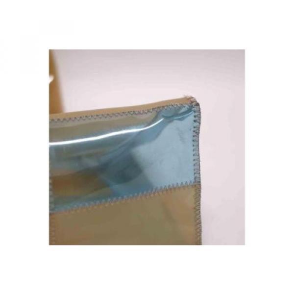 Auth CHANEL Patchwork Vinyl Beach Bag Shoulder Bag Beige/Blue 065019 #5 image