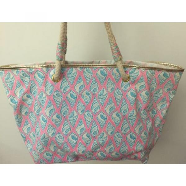 LILLY PULITZER A LITTLE TIPSY SHORELINE TOTE BAG PURSE BEACH HOLY GRAIL! #4 image