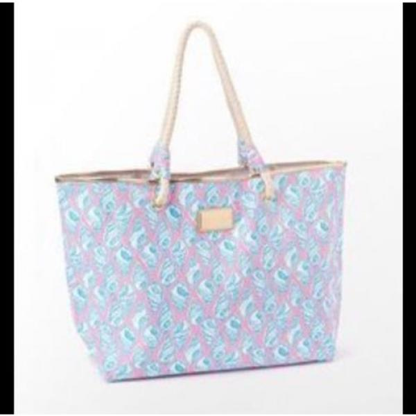 LILLY PULITZER A LITTLE TIPSY SHORELINE TOTE BAG PURSE BEACH HOLY GRAIL! #5 image