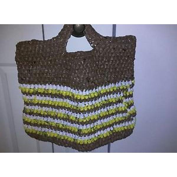 Tote/Beach Bag  Made From Recycled Plastic Grocery Bags*Hand Made * Ecofriendly* #1 image