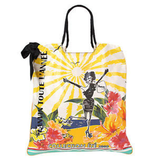 36614 auth LANVIN yellow & multicolor PRINTED pvc Shoulder Beach Pool Bag #1 image