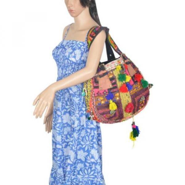 "Banjara Bag 12""x13"" Tote messenger Shopper Market Beach Bag India ID-15028 #4 image"