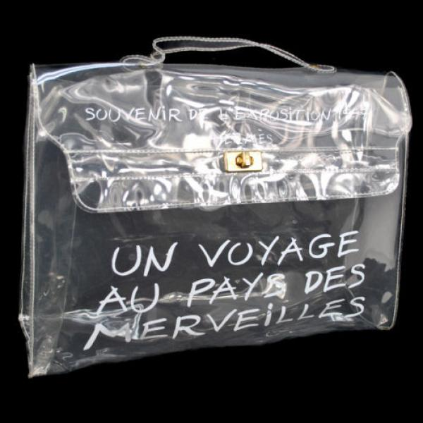 Authentic HERMES Kelly Beach Hand Bag SOUVENIR DE L'EXPOSITION Vinyl 1997 B28356 #1 image