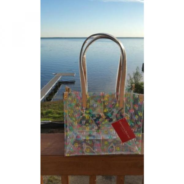 Dooney & Bourke Clear Medium IT Collection all over DB Logo Tote beach bag NWT #1 image