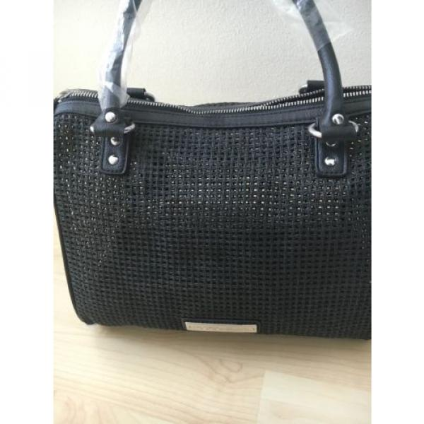 NWT Bcbg Generation Mesh Bag Beach Wicker Black Small Duffel Bcbgeneration #5 image
