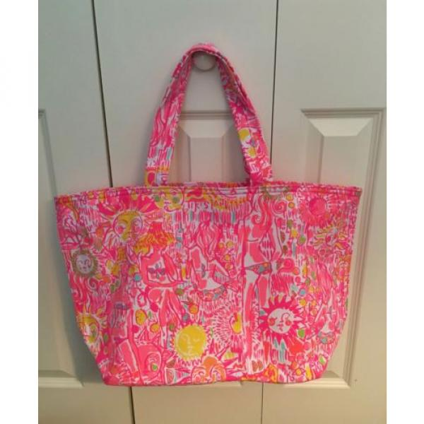 NWT Lilly Pulitzer Palm Beach Tote Bag Pink Pout #1 image