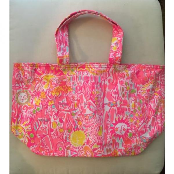 NWT Lilly Pulitzer Palm Beach Tote Bag Pink Pout #2 image