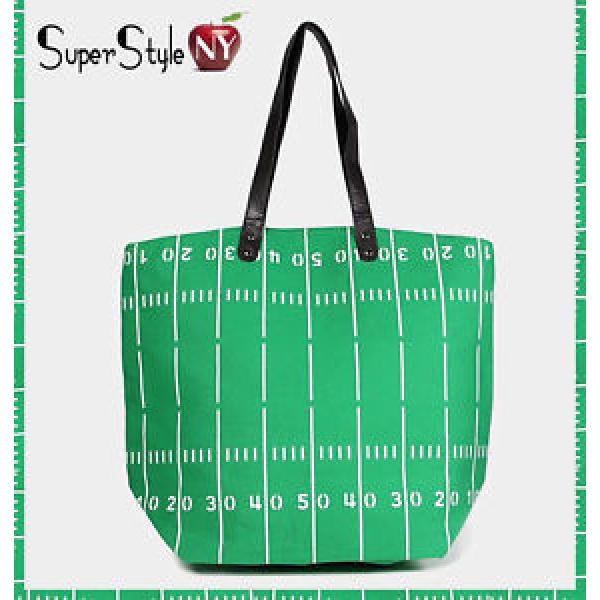 Green Football Field Canvas Beachbag Sea Tote Ocean Summer Bag #1 image