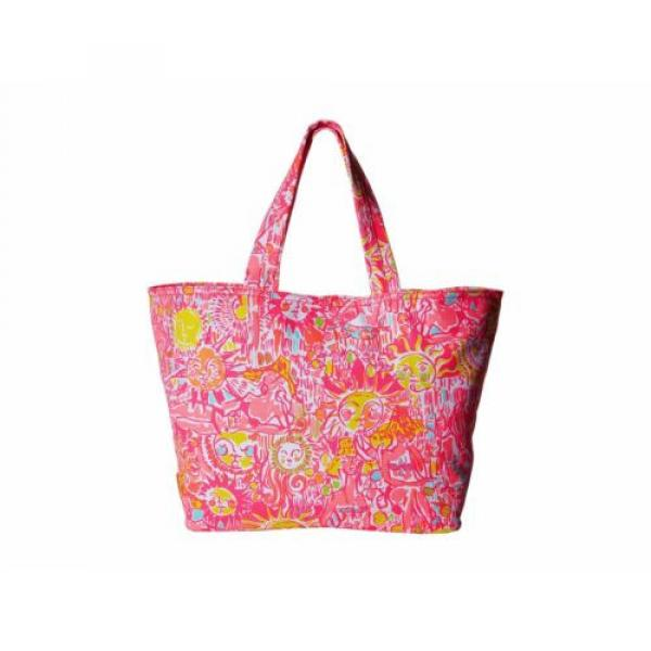 NWT Lilly Pulitzer Palm Beach Tote Bag PINK POUT KINIS IN THE KEYS Travel Bag #1 image