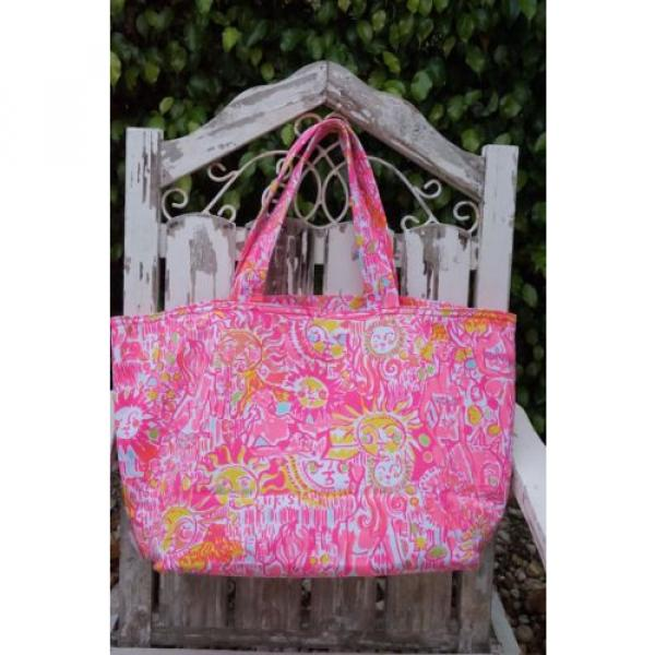 NWT Lilly Pulitzer Palm Beach Tote Bag PINK POUT KINIS IN THE KEYS Travel Bag #5 image